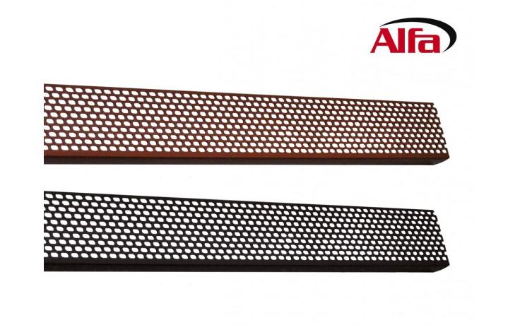 134 ALFA - Ventilation linéaire PVC - veille à une ventilation effective et optimale pour les toits et les façades ventilés et évacue l´humidité vers l´extérieur