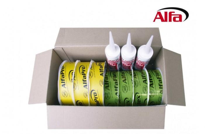 199 ALFA assortiment- isolation hermétique des écrans, films, pare-vapeur, frein pare vapeur écran de sous toiture