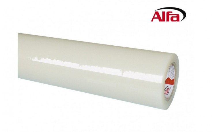 420 ALFA -Film de protection temporaire pour surfaces fragiles en textile, transparent et autocollant.