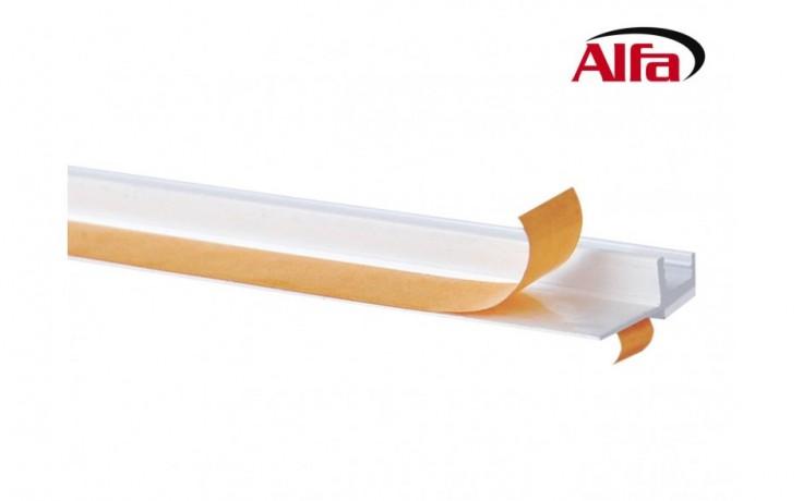 530 ALFA Profilé avec rail et lèvre de protection autocollante - Ils permettent une pose parfaitement propre, rapide et simple