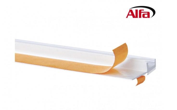 Schema- 532 ALFA - Profilé «L» avec languette autocollante et lèvre de protection