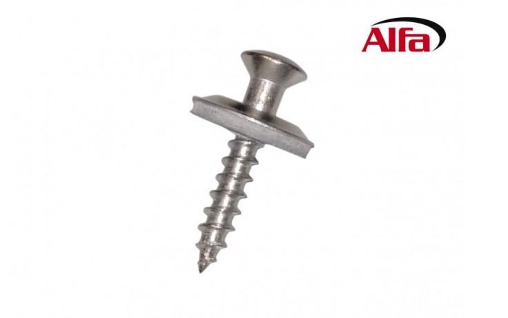 650 ALFA - Vise en acier inoxydable, pour les murs dans le toit, le metal et la construction des facades