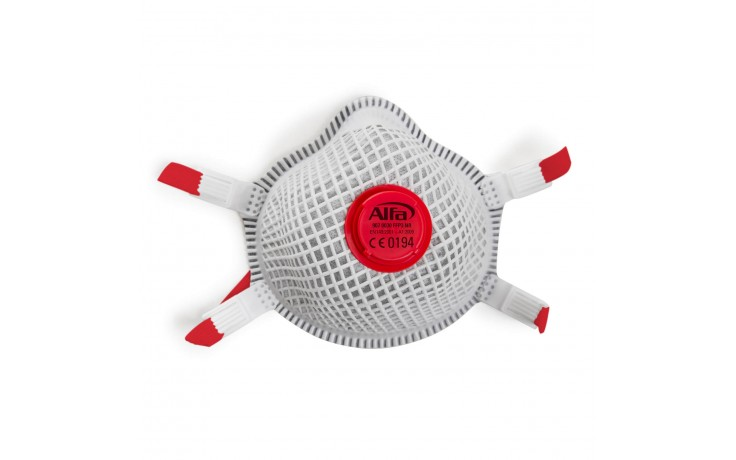 Masque de haute qualité contre les poussières fines FFP3 avec valve, structure extérieure durable et filtre à charbon actif anti-odeur