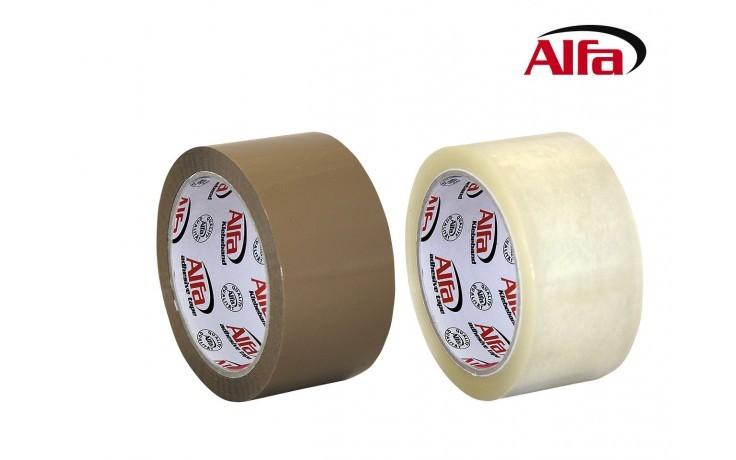 303 ALFA ruban adhésif en PP- est idéal pour assembler ou coller vos cartons et colis. Très agréable, elle ne fait aucun bruit au déroulement! transparent ou brun. Libre de tout solvants.