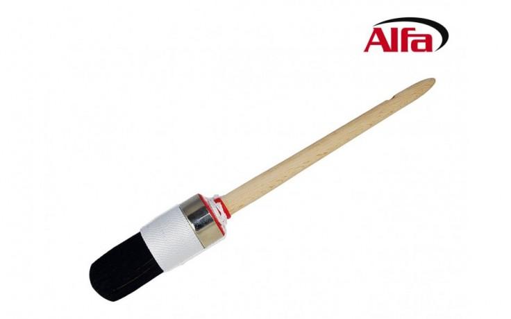 484 ALFA - Brosse à rechampir - double collet en ficelle «PremiumLine»