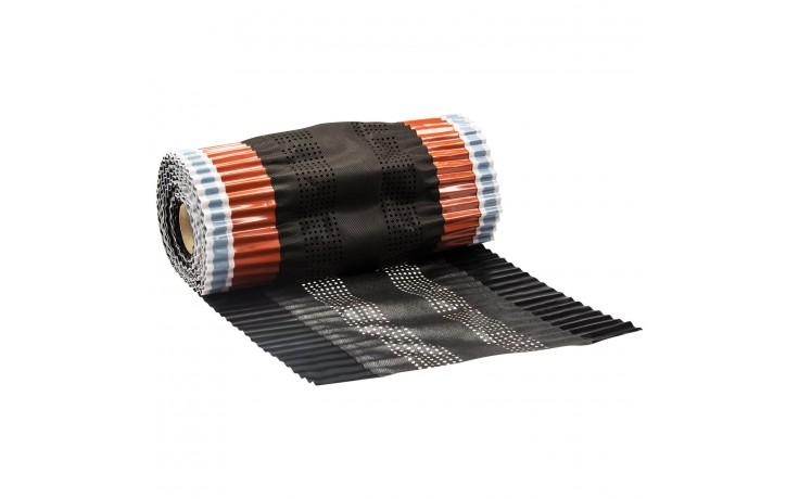 Closoir de faîtage sur rouleau de très grande qualité avec feutre en PP et ouverture pour ventilation