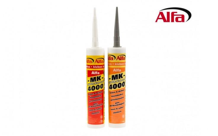 858 ALFA MK 4000 Colle pour remblai et compactage, 1K - hybride pour intérieur et extérieur, pasteuse, isolant pour joints mouvants