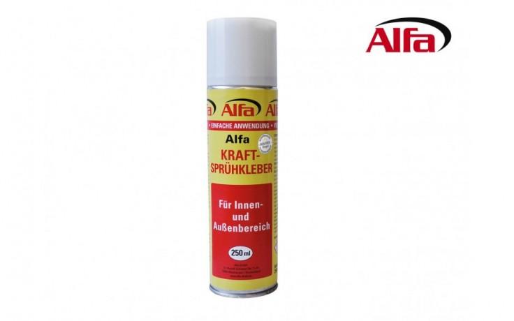 204 ALFA - Colle ultra puissante en spray / pour intérieur et extérieur. Pour toutes surfaces.