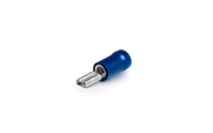 Cosse de câble plat, semi-isolé 8,0 x 0,8 bleu
