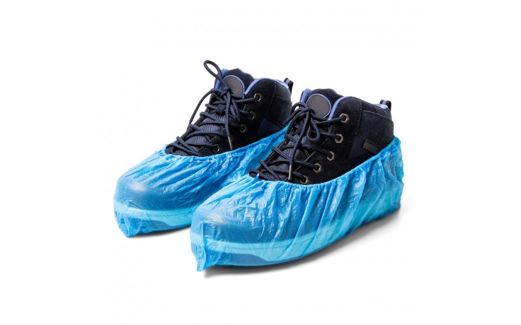 928 Alfa CPE-Protections chaussures est en CPE très robuste; Pour toutes tailles. Le film en CPE rend cette protection particuliérement sûre!