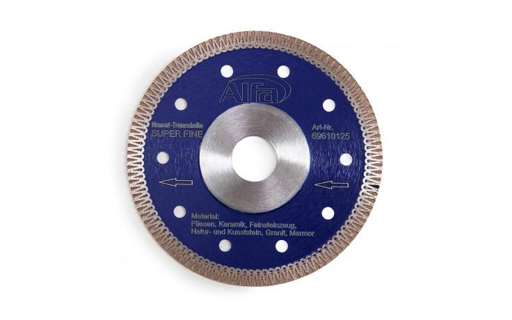 Disque à tronçonner diamanté extrêmement fin avec une épaisseur de segment de 1,3 mm et une hauteur de 8,5 mm