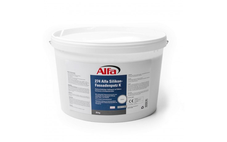Enduit d'extérieur prêt à l'emploi à base de résine de silicone pour structure de plâtre à gratter et à friction