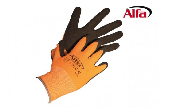 944 ALFA - Gants de montage «FOAM» en tricot et une couche de Latex