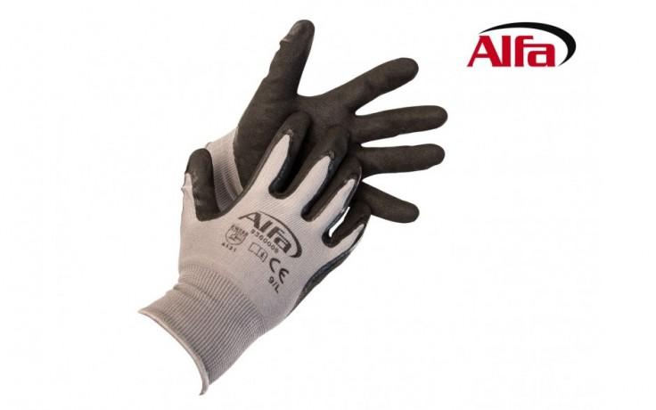 936 ALFA - Gants de montage Premium est un gant de montage en tricot ultra fin, revêtu de mousse en nitrile.