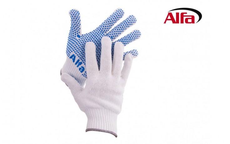 912 ALFA Ces gants sont faits en bord-côte avec des antidérapants bleu sur les surfaces intérieurs
