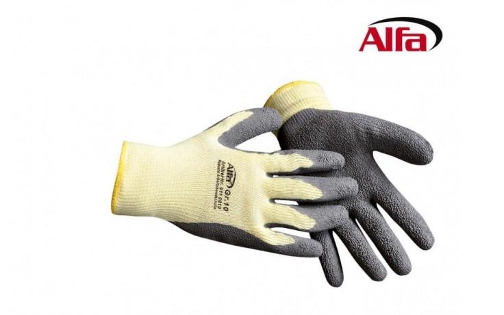 911 ALFA Robuste et pratique ces gants de travail revêtus de Latex avec élastique.
