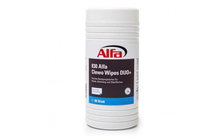 830 ALFA Nettoyer les outils sans eau avec Clewo® Wipes Duo+