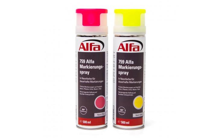 759 ALFA - Marqueur SPOT (Couleurs néon) en spay - jaune et rose fluo