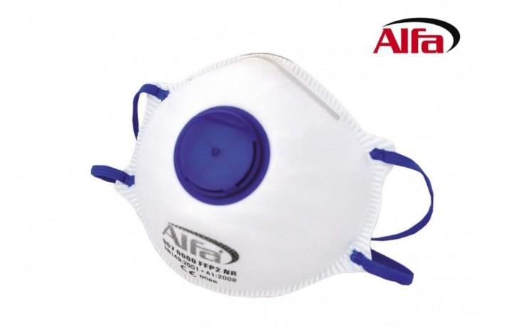 907 ALFA - Masque anti-poussières fines FFP2 avec valve et support nez