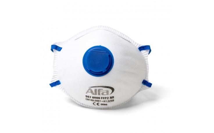 Détail: ce masque protège contre des particules fines, dures et fluides jusqu´á 10x la valeur MAK.