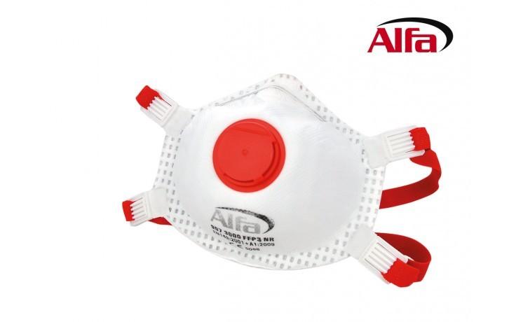 907 ALFA - Masque anti-poussière FFP3 avec valve contre l' amiante