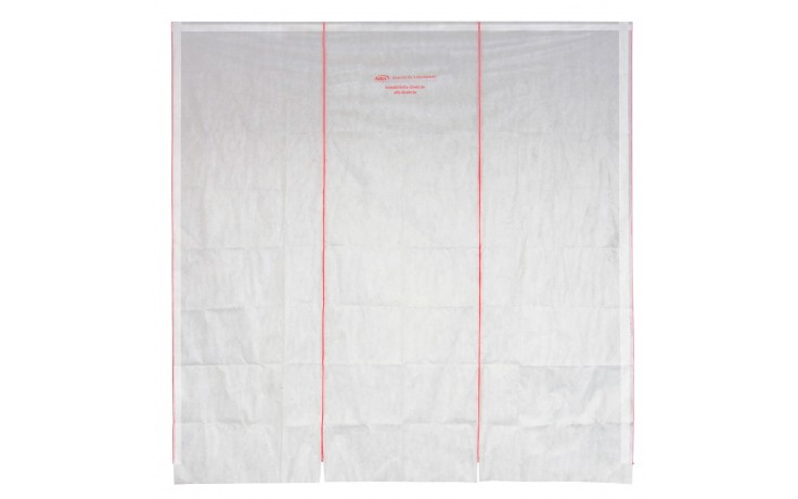 Mur de protection anti poussières, flexible, indéchirable, se combine facilement avec tirette