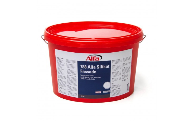 Peinture silicates pour façades à dispersion, ultra couvrante, résistant aux intempéries, perméable à la vapeur d´eau
