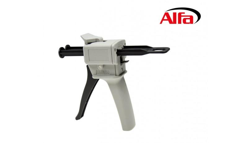 Pistolet pour deux cartouches pour bi composant