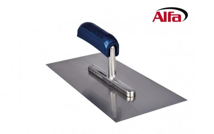450 ALFA - Platoir de lissage en acier inoxydable avec poignée ergonomique en bois