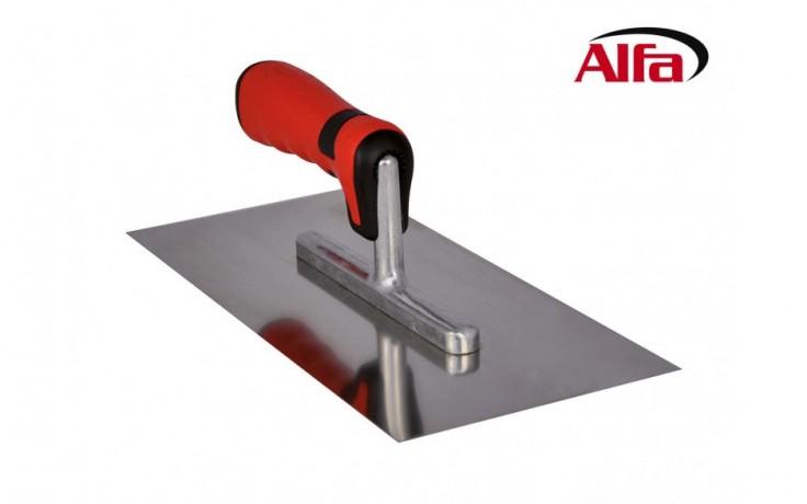 51 ALFA - Platoir de lissage en acier inoxydable avec poigné soft bi-composant