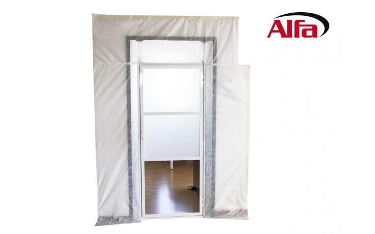 Porte anti poussière avec système de tension rapide, vitre en Plexiglas et membrane de protection