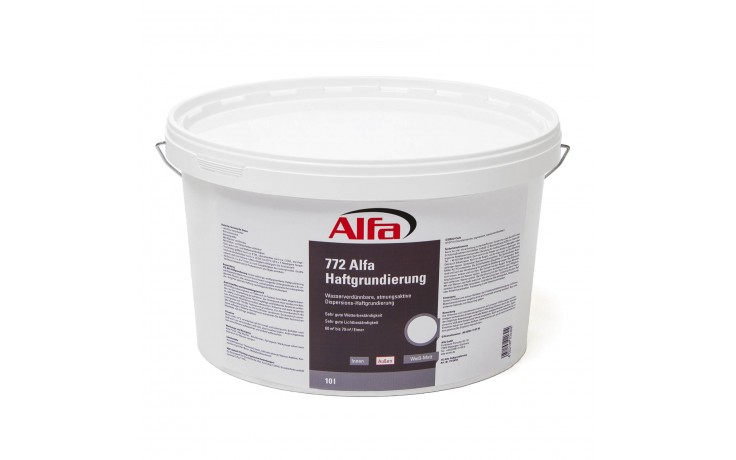 Apprêt adhésif en dispersion, diluable à l'eau et perméable à l'air