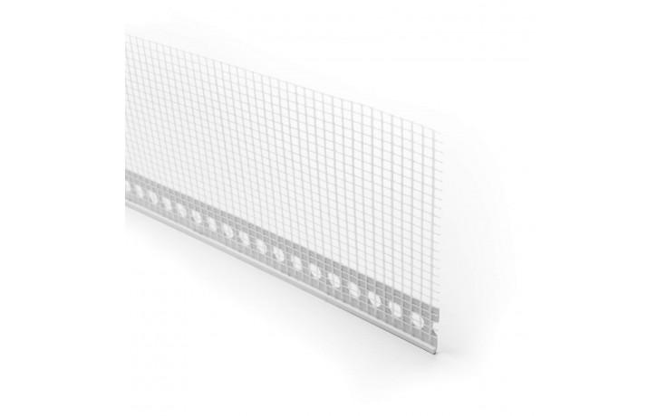 528 ALFA - Profilé d´enduit en PVC tramé pour crépis - intérieur et extérieur