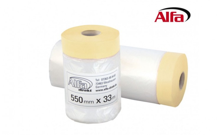 562 ALFA - Ruban adhésif / Film de masquage en papier crêpe
