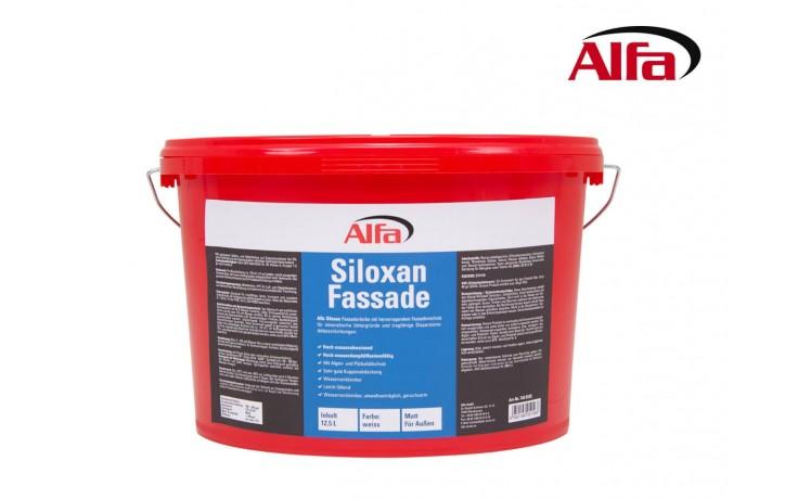 Peinture à dispersion, en résine de silicone à diffusion ouverte pour façades, imperméable algicide et fongicide