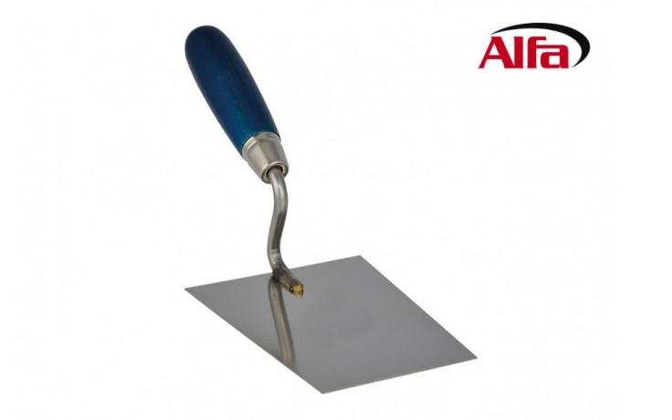 454 ALFA - Truelle pour maçon avec poignée en bois en acier de haute qualité