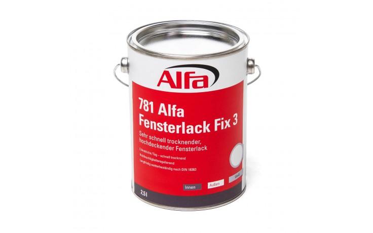 781 ALFA - Vernis pour fenêtres FIX 3 - séche très rapidement - pose simple