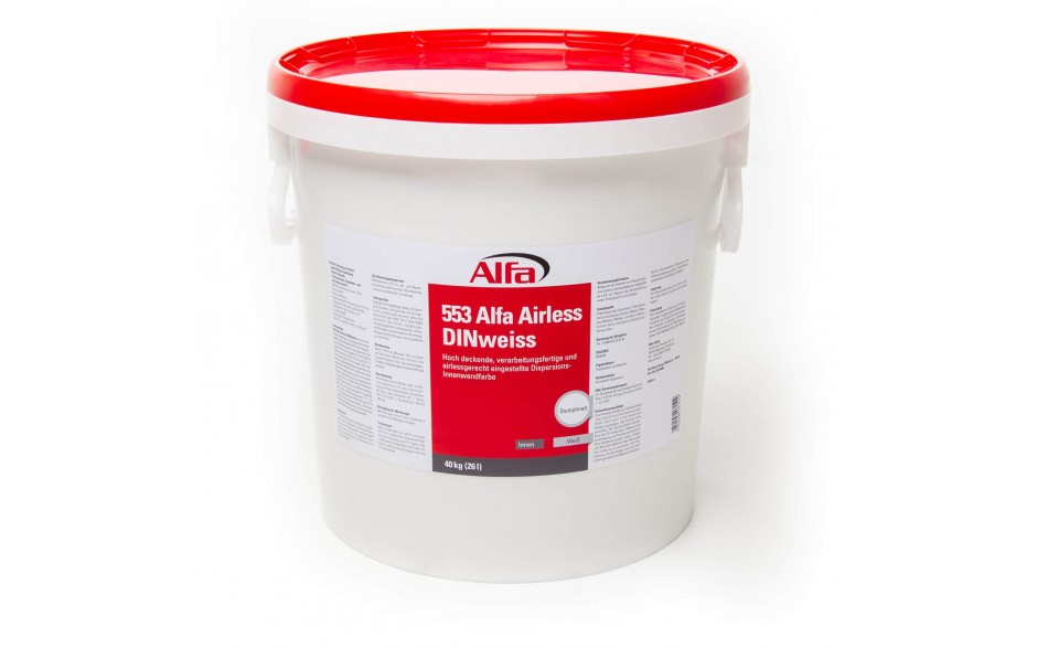 553 Alfa Airless Din Blanc Peinture Murale De Dispersion
