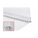 535 ALFA - Cornière d'angle en PVC dur pour le renforcement d'angles sortants (exemple chambranles)