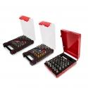 Boîtes de 31 pièces d'embouts professionnels de haute qualité avec porte-embouts inclus