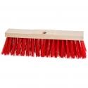 Balai à poils Elaston rouge pour saletés importantes et humides