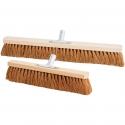 Balai en bois à poils en cocos naturel pour surfaces sèches