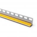 Profilé d'enduit en PVC rigide, auto-adhésif, robuste, avec patte d'enduit et languette de protection