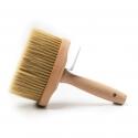 Brosse pour façades extrêmement robuste avec poignée en bois et embout en laiton
