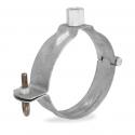 Collier galvanisé avec douille filetée M10 pour tuyau ou gouttière