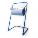 Dévidoir pour bobine d'essuyage, rouleau ouate, papier nettoyant etc… avec couteau à maroufler