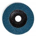 Disque à lamelles avec grain de zircon-corindon sur disque de tissu de verre