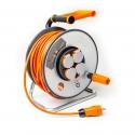 Enrouleur à câble entièrement isolé avec Tambour en acier pour une utilisation permanente à l'extérieur