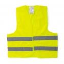 Gilet d'avertissement jaune ou orange certifié avec 2 bandes réfléchissantes