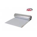 Isolant phonique PE pour le sol avec pare vapeur en alu intégré et ruban adhésif